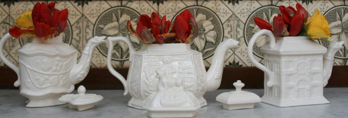 Royal Creamware limited edition Victorian Teapot's